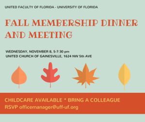 FALL MEMBERSHIP DINNER AND MEETING